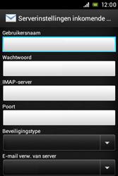 Sony ST21i Xperia Tipo - E-mail - Handmatig instellen - Stap 7