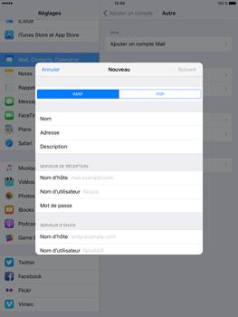 Apple iPad Pro (9.7) - E-mail - Configuration manuelle - Étape 10