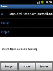 Samsung S5360 Galaxy Y - E-mail - envoyer un e-mail - Étape 6