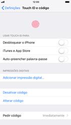 Apple iPhone 7 - iOS 12 - Segurança - Como ativar o código de bloqueio do ecrã -  8