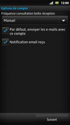Sony MT27i Xperia Sola - E-mail - Configuration manuelle - Étape 14