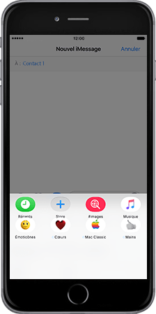 Apple Apple iPhone 7 Plus - iOS features - Fonctions iMessage - Étape 3