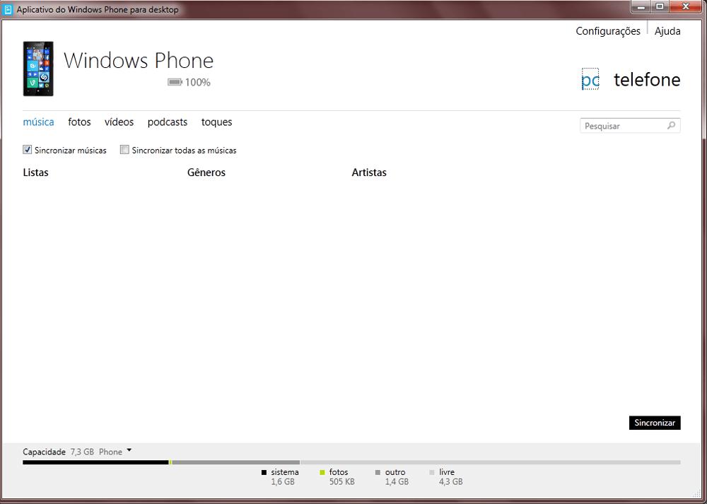 Nokia Lumia 1020 - Conexão com pc - Como transferir arquivos do computador para seu aparelho - Etapa 3