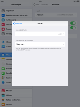 Apple iPad mini iOS 8 - E-mail - Account instellen (IMAP met SMTP-verificatie) - Stap 22