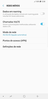 Samsung Galaxy Note 8 - Android Oreo - Internet no telemóvel - Como ativar 4G -  8