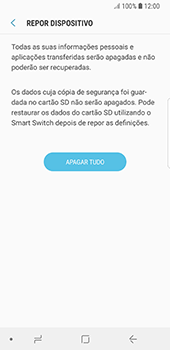 Samsung Galaxy S8 - Android Oreo - Repor definições - Como repor definições de fábrica do telemóvel -  9