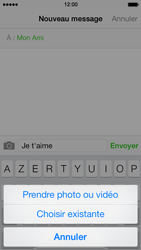 Apple iPhone 5 iOS 7 - MMS - Envoi d