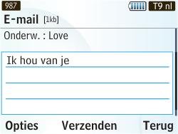 Samsung S3350 Chat 335 - E-mail - e-mail versturen - Stap 7
