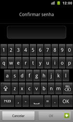 Samsung Galaxy S II - Segurança - Como ativar e desativar um código para bloqueio de tela do seu celular - Etapa 9