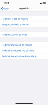 Apple iPhone X - iOS 13 - Funções básicas - Como restaurar as configurações originais do seu aparelho - Etapa 5