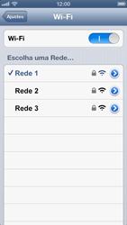 Apple iPhone iOS 6 - Wi-Fi - Como configurar uma rede wi fi - Etapa 7