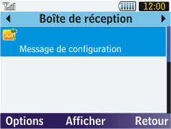 Samsung S3570 Chat 357 - MMS - Configuration automatique - Étape 4