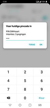 LG g7-fit-dual-sim-lm-q850emw - Beveiliging en ouderlijk toezicht - Hoe wijzig ik mijn SIM PIN-code - Stap 9