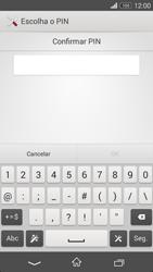 Sony Xperia M2 - Segurança - Como ativar o código de bloqueio do ecrã -  9