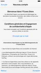 Apple iPhone 6 iOS 9 - Applications - Créer un compte - Étape 10
