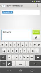 Sony Xpéria M2 - Contact, Appels, SMS/MMS - Envoyer un SMS - Étape 8