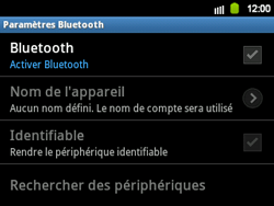 Samsung B5510 Galaxy TXT - Bluetooth - connexion Bluetooth - Étape 8