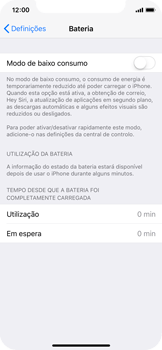 Apple iPhone X - Bateria - Modo de poupança -  4