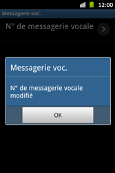 Samsung S6500D Galaxy Mini 2 - Messagerie vocale - configuration manuelle - Étape 9