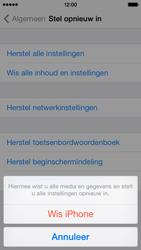 Apple iPhone 5c - Instellingen aanpassen - Fabrieksinstellingen terugzetten - Stap 6