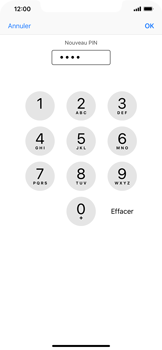 Apple iPhone XR - Securité - Modifier le code PIN de la carte SIM - Étape 9