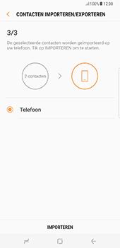 Samsung Galaxy S8 Plus (G955) - Contacten en data - Contacten kopiëren van SIM naar toestel - Stap 13