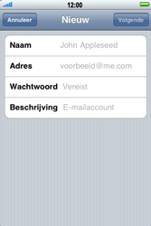 Apple iPhone 4 - E-mail - Handmatig instellen - Stap 7