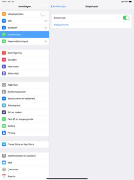 Apple ipad-pro-12-9-inch-2018-model-a1895 - Beveiliging en ouderlijk toezicht - Hoe wijzig ik mijn SIM PIN-code - Stap 5