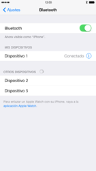 Apple iPhone 6 iOS 8 - Bluetooth - Conectar dispositivos a través de Bluetooth - Paso 7