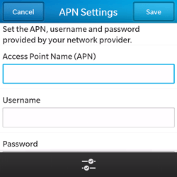 BlackBerry Q5 - Internet - Manual configuration - Step 8