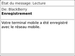 BlackBerry 9790 Bold - Paramètres - Message de configuration reçu - Étape 11