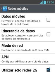 LG Optimus L3 II - Red - Seleccionar el tipo de red - Paso 8