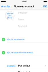 Apple iPhone 4 - Contact, Appels, SMS/MMS - Ajouter un contact - Étape 6