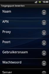 Sony Ericsson Xperia Mini Pro - MMS - handmatig instellen - Stap 8