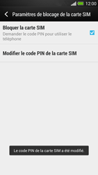 HTC One - Sécuriser votre mobile - Personnaliser le code PIN de votre carte SIM - Étape 10