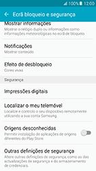 Samsung Galaxy A5 (2016) (A510F) - Segurança - Como ativar o código PIN do cartão de telemóvel -  5