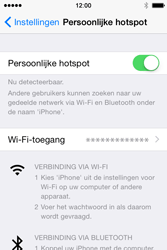 Apple iPhone 4S met iOS 8 (Model A1387) - WiFi - Mobiele hotspot instellen - Stap 8