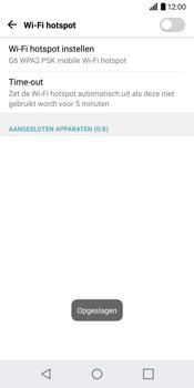 LG G6 (LG-H870) - WiFi - Mobiele hotspot instellen - Stap 8