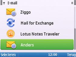 Nokia E5-00 - E-mail - handmatig instellen - Stap 9