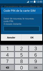 Samsung Galaxy Trend 2 Lite - Sécuriser votre mobile - Personnaliser le code PIN de votre carte SIM - Étape 9