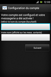 Sony ST21i Xperia Tipo - E-mail - Configuration manuelle - Étape 15