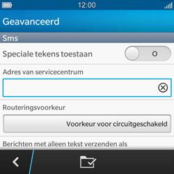 BlackBerry Q5 - SMS - handmatig instellen - Stap 8
