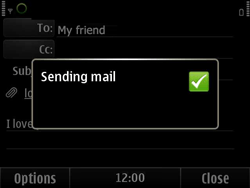 Nokia E6-00 - E-mail - Sending emails - Step 13