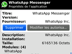 BlackBerry curve 3G - Applications - Supprimer une application - Étape 6