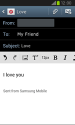 Samsung I9105P Galaxy S II Plus - Email - Sending an email message - Step 9