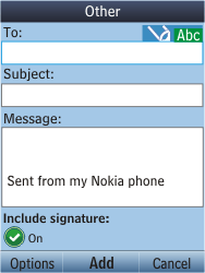 Nokia C2-05 - E-mail - Sending emails - Step 6