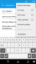 Sony Xperia M5 - E-mail - Bericht met attachment versturen - Stap 10