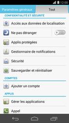 Huawei Ascend P7 - Device maintenance - Retour aux réglages usine - Étape 5