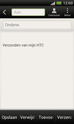 HTC T328e Desire X - E-mail - hoe te versturen - Stap 5