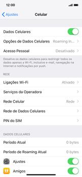 Apple iPhone X - iOS 12 - Rede móvel - Como ativar e desativar uma rede de dados - Etapa 4
